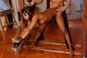 THE DUNGEON EBONY GIRLS BOUND Bondage..