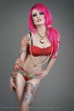 Sexy Pink Hair Kelly Eden Hot Tattoo..