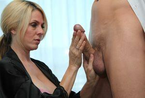 Mature woman hand job