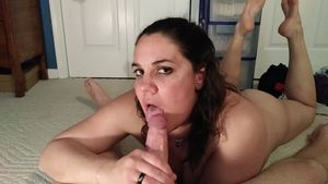 Cheating wife edges a cock and sucks..