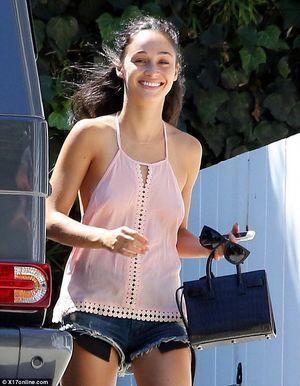 Cara Santana braless with boyfriend..