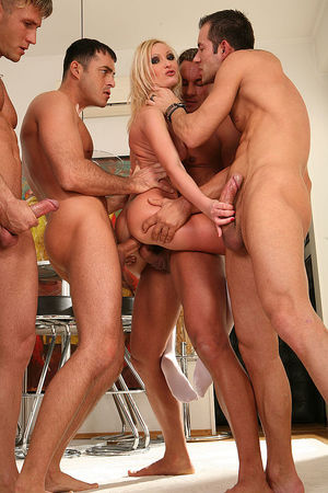 Blonde wife dance gangbang - Blonde