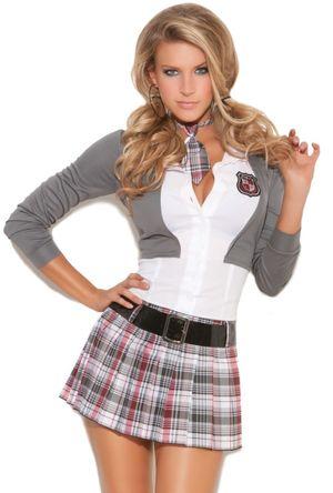 Sexy red plaid Leg Avenue school girl..