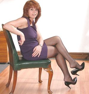 Very Hot Mature Milf in Stockings and..