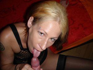 Mature female blow jobs