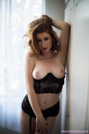 Sharp featured busty Abigale Mandler..
