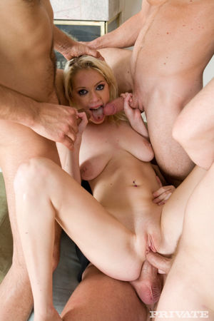 Horny blonde Kissy Kapri gets all her..