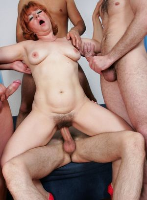 Nikki gets gang banged in an adult..