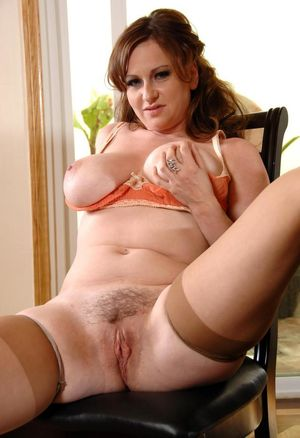 Mature Pussy Sitting On Chair -..