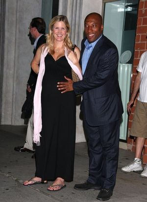 BYRON ALLEN AND PREGNANT WIFE CHOW..