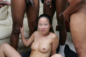 Niya Yu - Asian Slut gets Gangbanged..