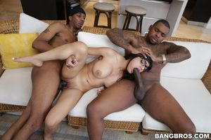 black threesome big cock