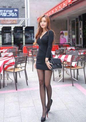 asian teen in stockings