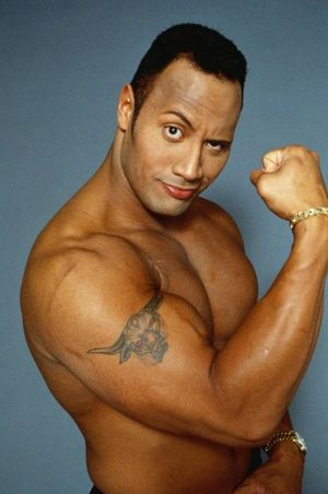 the rock naked