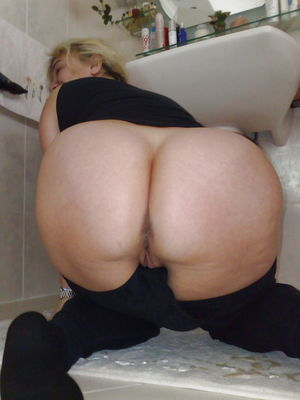 Mature ass hole stocking