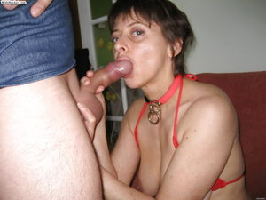 Slut Wives sucking on a Cock - Photo