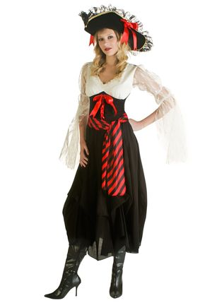 Sexy Female Pirate Costume - Halloween..