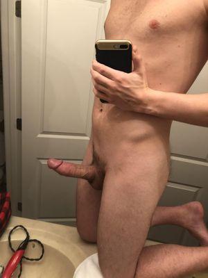 Loving my new mirror Dick Pics - Naked..
