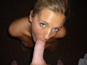 Nice blonde busty mature posing..