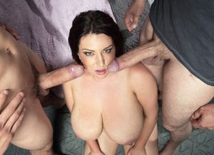 Paige Turner in threesome video, two..