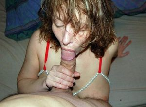 This middle aged women sucking..
