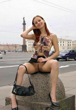public pussy upskirt