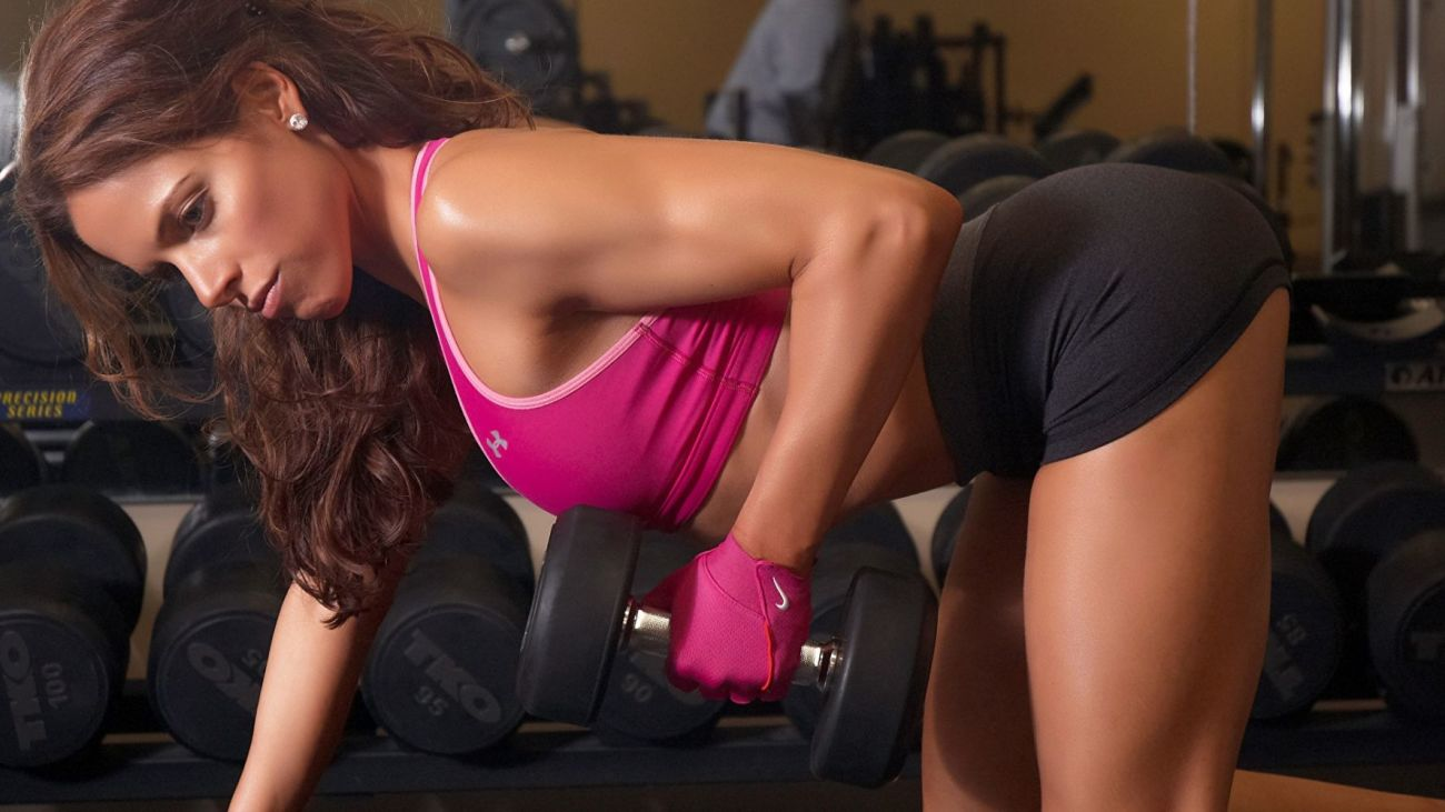 SPORTS girls-sexy-gym-fitness-dumbbells-exercise-arm-glove w