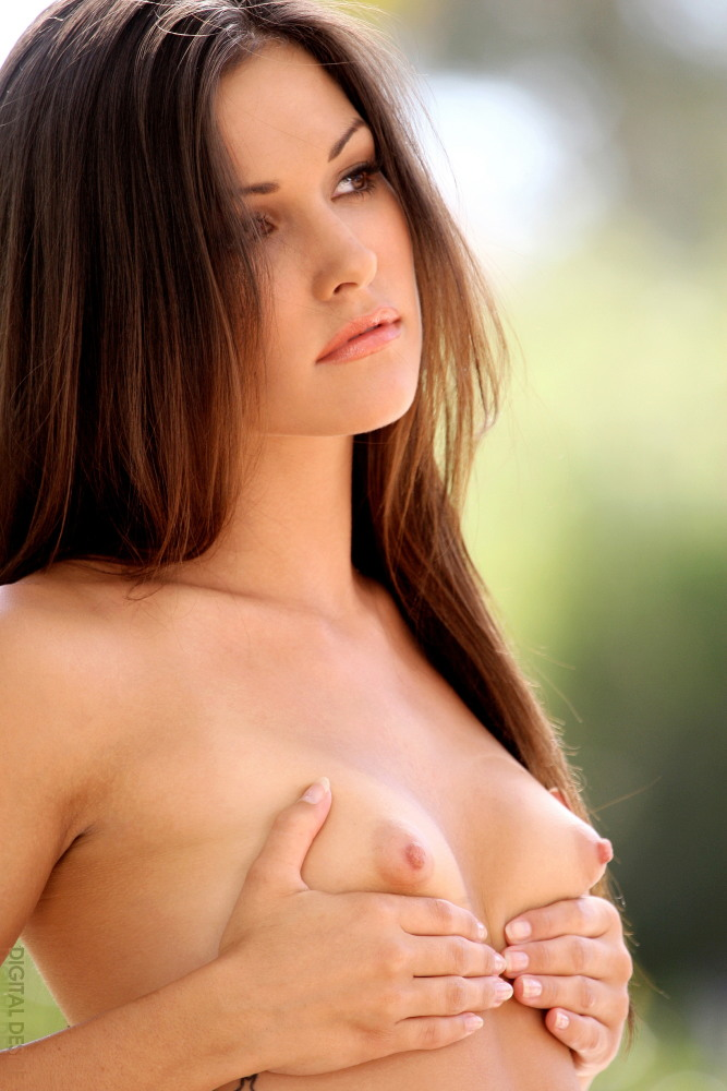 Hot perky small boobs brunette